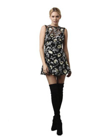 Karina Grimaldi Leonor Embroidered Lace Mini Dress