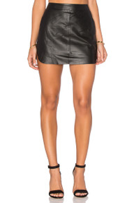 Karina Grimaldi Jacob Leather Mini Skirt Black