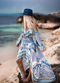 Camilla Salvador Summer High Low Hem Skirt