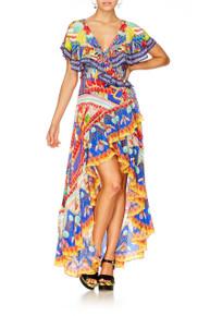 Camilla Rio Riot Frill Sleeve Long Dress
