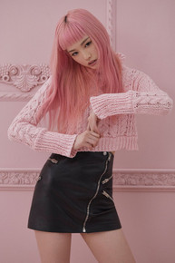 Knitz by For Love and Lemons Candy Cable Knit Sweater
