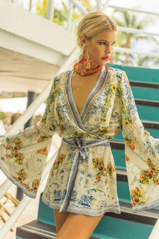 Camilla Come As You Are Bell Sleeve Playsuit