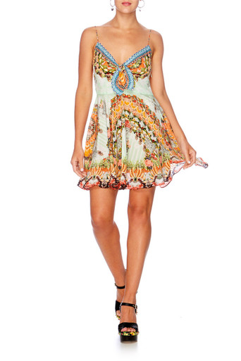 Camilla Slice of Paradise Short Dress with Tie Front