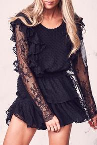 Love Shack Fancy Nat Dress Black