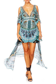 Camilla Turn On the Charm Peplem Overlay Short Dress