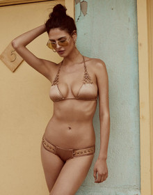 Beach Bunny Swimwear Ireland Ring Triangle Top Bikini Set Bronze