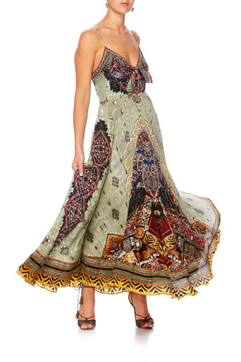 Camilla The Caravan Long Dress with Tie Front
