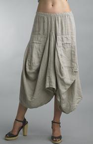 Tempo Paris Linen Skirt 712LA Beige