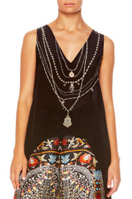 Camilla Chamber of Reflections High Low Cross Overlay Top