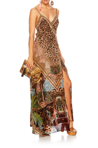 Camilla The Gypsy Lounge Cross Overlay Halter Dress
