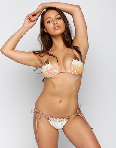 Beach Bunny Swimwear Ariel Mermaid Bikini Set Blush