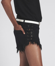 One Teaspoon Cutoff Shorts Brandos Black Oak