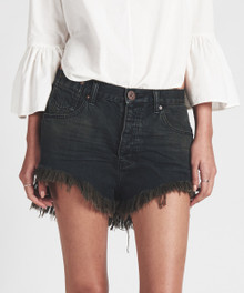 One Teaspoon Cutoff Shorts Le Wolves Fox Black