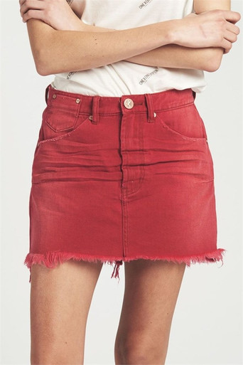 One Teaspoon Vanguard Mid Rise Mini Skirt