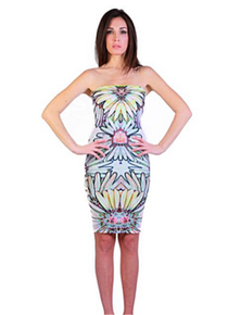 Letube Nature Flower Convertible Tube Dress