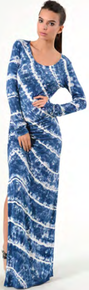 Young Fabulous & Broke Blais Maxi Dress in Marine Diagonal Wash