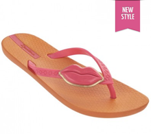 Ipanema Neo Love II Lips Flip Flops Orange pink