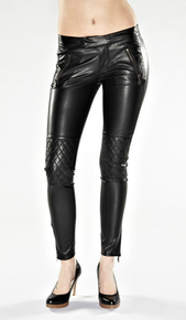 Work Custom Tuxedo Leggera Faux Leather Pants