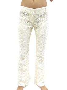 SW3 Bespoke Kensington Lace Pant Ivory