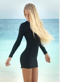 Mikoh Swimwear Caribbean Long Sleeve Mini Dress Night