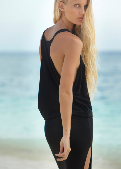 Black Mavericks Cover Up Dress by MIKOH Swimwear