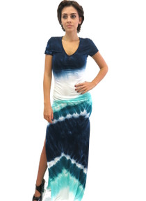 Young Fabulous and Broke Bentley Maxi Navy Macaw Wash