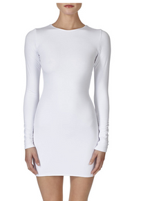 Mikoh Swimwear Caribbean Long Sleeve Mini Dress Foam