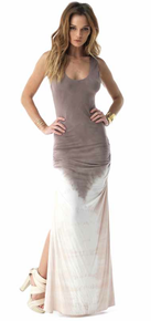 Sky Sharikha Maxi Dress Taupe Tie Dye