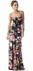 Sky Salusz Strapless Maxi Dress Black Floral