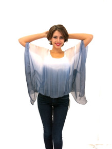 Tempo Paris Silk Top Blue Ombre
