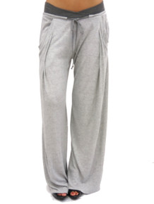 Sen Collection Anama Wide Leg Pant Heather Grey