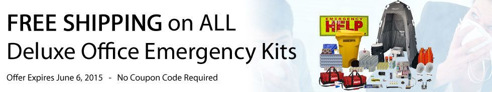 FREE SHIPPING on ALL Deluxe Office Emergency Kits