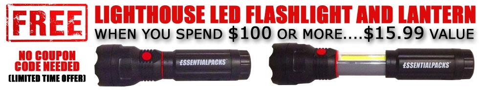 FREE LIGHTHOSE LED Flashlight with Slide Out Lantern