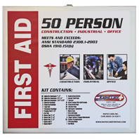First Aid Kit in Metal Cabinet (50 Person)