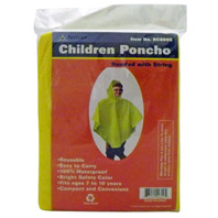 Heavy-Duty Waterproof Poncho - Child Size