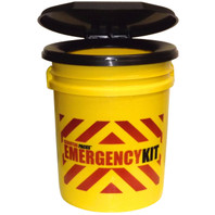 """EMERGENCY KIT""  Bucket with Snap-On Toilet Seat Lid"