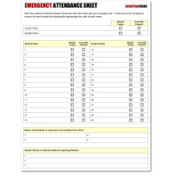 Emergency Attendance Sheet