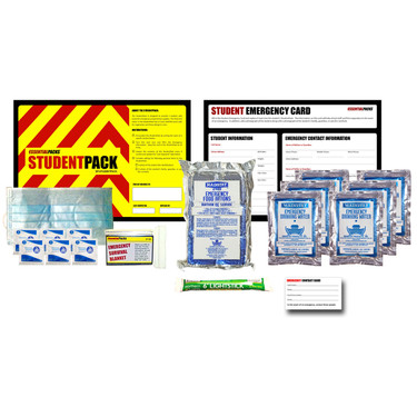 StudentPack Emergency Kit In Resealable Bag (3 Day) - Contents