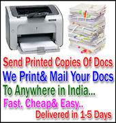 Send Paper Documents Fax Printed Copies Upload Online Upto 3GB To India USA Canada Anywhere