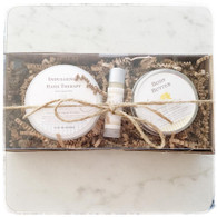 Indulgence Hand Therapy, Body Butter, Vitamin E Lip Balm Gift Set