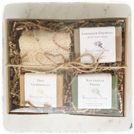 Gift Box with Natural Loofah and 3 Soaps