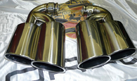 Porsche Cayenne Turbo Style Exhaust Tips