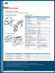FMC Technologies M08 SERIES (45 BHP Intermittent Duty)