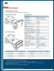 FMC Technologies M16 SERIES (142 BHP Intermittent Duty)