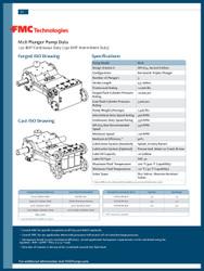 FMC Technologies M18 SERIES (190 BHP Intermittent Duty)