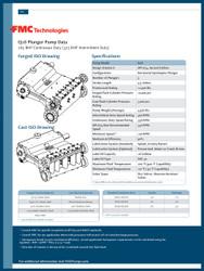 FMC Technologies Q18 SERIES (325 BHP Intermittent Duty)