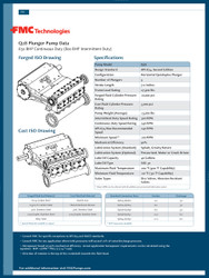 FMC Technologies Q28 SERIES (800 BHP Intermittent Duty)