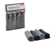 Micro-fibre Cloths-2 Gray & 2 Black