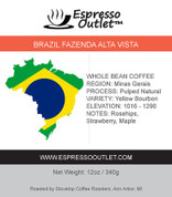 Brazil Fazenda Alta Vista Whole Bean Coffee