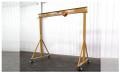 Spanco 1 Ton E-series Adjustable Height 4 4 to 7 0 Gantry Crane